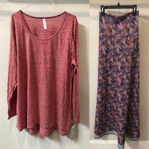 Cute Lularoe Outfit - Maxi (2XL) and Lynnae (3XL)